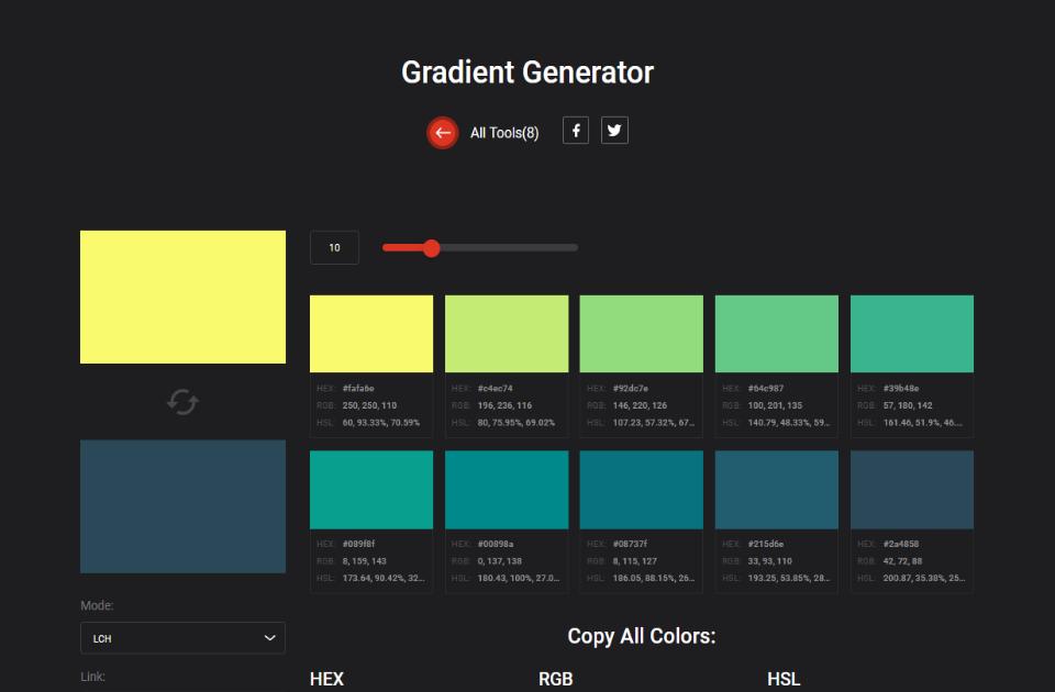 Gradient Generator - Colordesigner