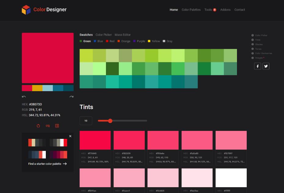 Color Designer - Simple Color Palette Generator